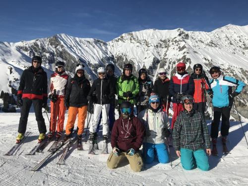 Gruppenfoto Skiweekend 2020